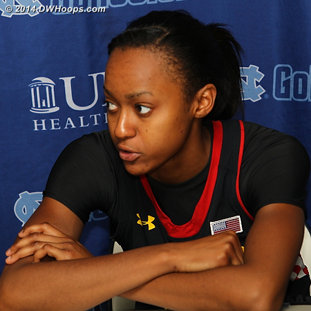 Post game press conference - 16 points was one shy of Walker-Kimbrough's career high, though her 17 point nights were against Wofford and Texas Southern  - MD Players: #32 Shatori Walker-Kimbrough