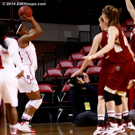 Burke from three stretches BC's defense to the breaking point. 12-2 Pack.  - NCSU Players: #44 Kody Burke