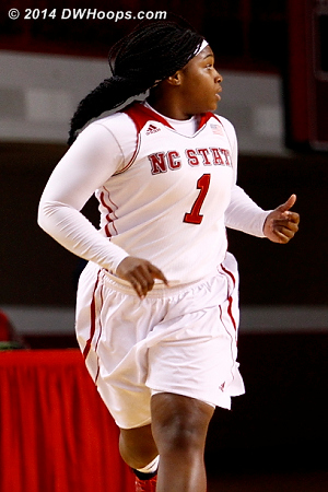 After one of her two made threes - 15-2 State  - NCSU Players: #1 Myisha Goodwin-Coleman