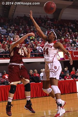 Dribble, draw, distribute  - NCSU Players: #44 Kody Burke - BC Tags: #45 Katie Zenevitch