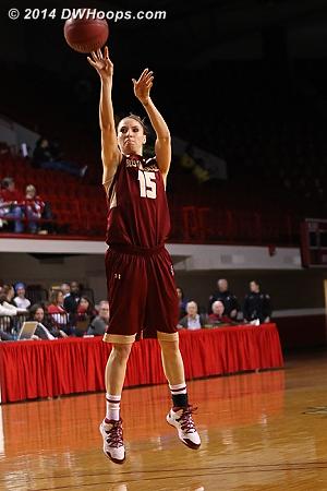 Engeln 1-4 from three  - BC Players: #15 Lauren Engeln