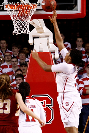 When it's an open layup, Gatling doesn't have far to send it  - NCSU Players: #34 Markeisha Gatling