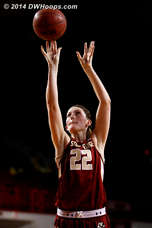 Free throws cut it to 38-36  - BC Players: #22 Emilee Daley