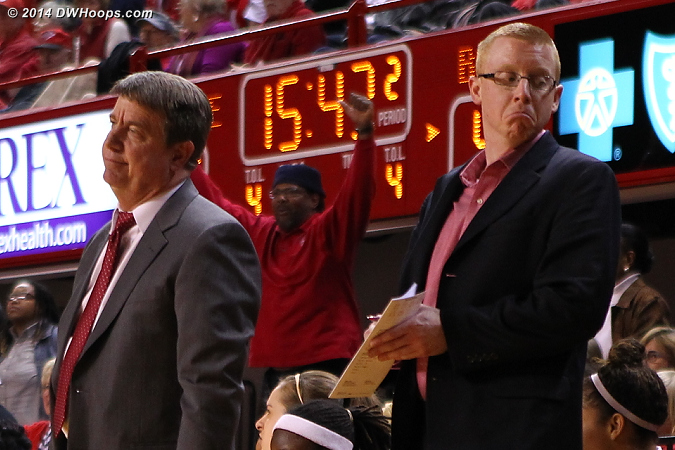 Moore and Mike Murray not pleased with the charge call.  - NCSU Players: Head Coach Wes Moore