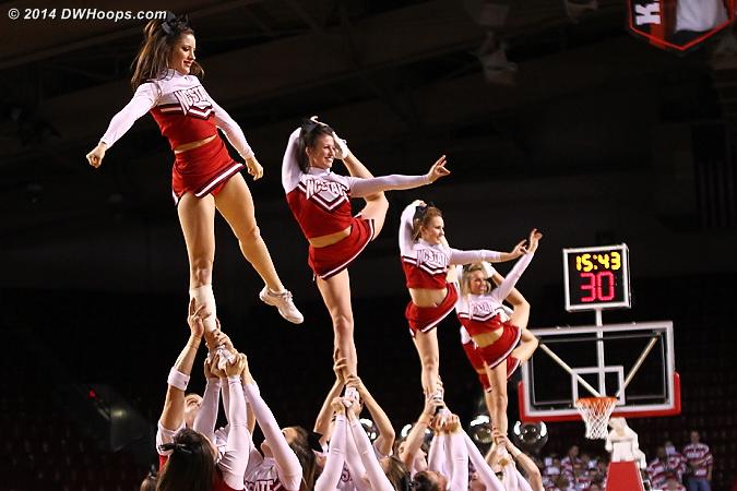 ACCWBBDigest Photo  - NCSU Players:  NCSU Cheerleaders