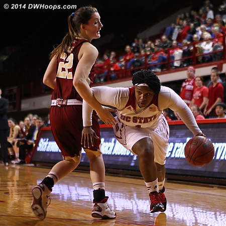 Hand of friendship is a foul this year  - NCSU Players: #1 Myisha Goodwin-Coleman - BC Tags: #22 Emilee Daley