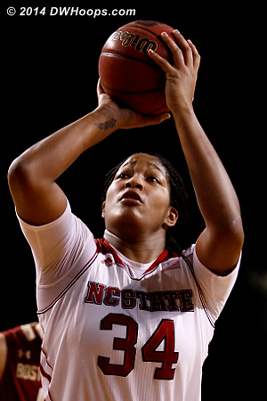 State closed it out with some excellent free throw shooting  - NCSU Players: #34 Markeisha Gatling