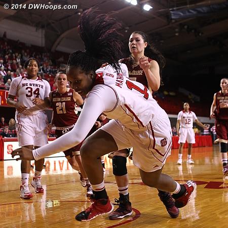 A lob just out of reach  - NCSU Players: #11 Jennifer Mathurin