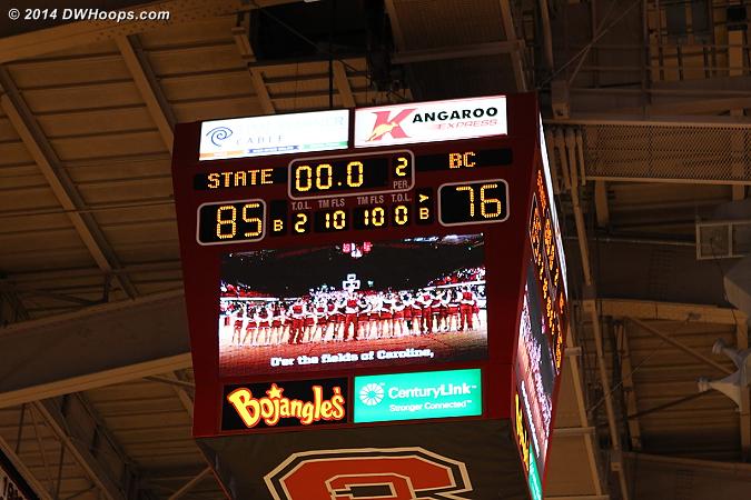 Ballgame - State 85, Boston College 76