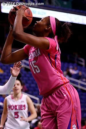 ACCWBBDigest Photo  - CLEM Players: #15 Nyilah Jamison-Myers
