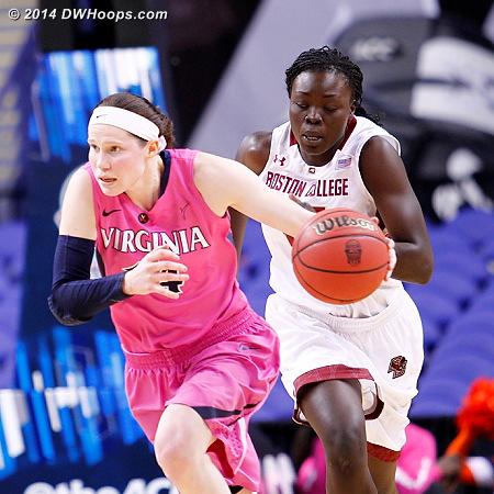ACCWBBDigest Photo  - UVA Players: #14 Lexie Gerson - BC Tags: #25 Karima Gabriel