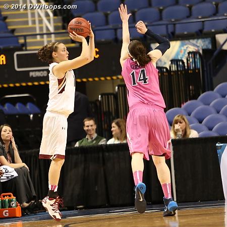 ACCWBBDigest Photo  - UVA Players: #14 Lexie Gerson - BC Tags: #11 Nicole Boudreau