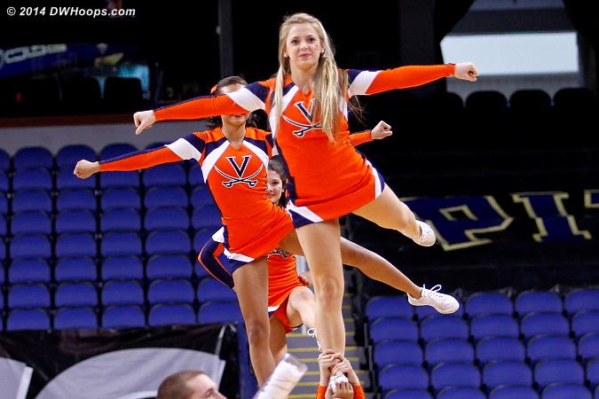 ACCWBBDigest Photo  - UVA Players:  Virginia Cheerleaders