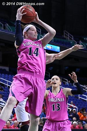 Lexie grabs a board  - UVA Players: #14 Lexie Gerson