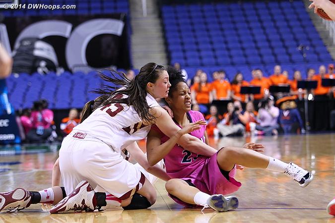 ACCWBBDigest Photo  - UVA Players: #23 Ataira Franklin - BC Tags: #45 Katie Zenevitch
