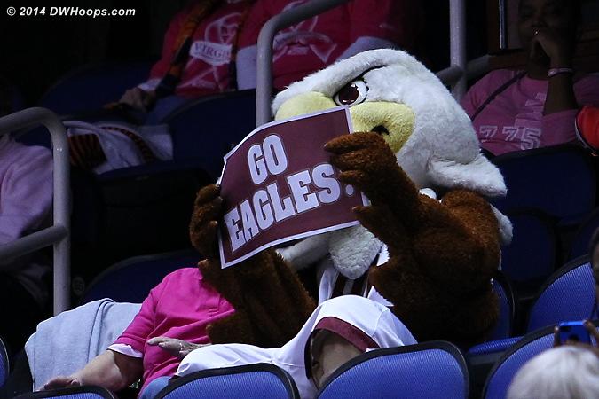 ACCWBBDigest Photo  - BC Players: Mascot Baldwin the Eagle