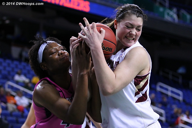 Held ball to UVa pretty much ended BC hopes  - UVA Players: #42 Sarah Imovbioh - BC Tags: #45 Katie Zenevitch