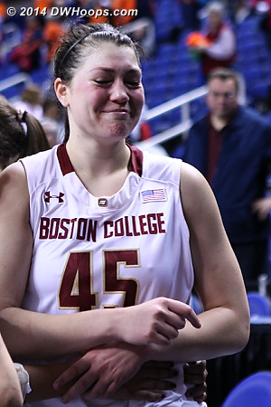 The pain of it being all over  - BC Players: #45 Katie Zenevitch