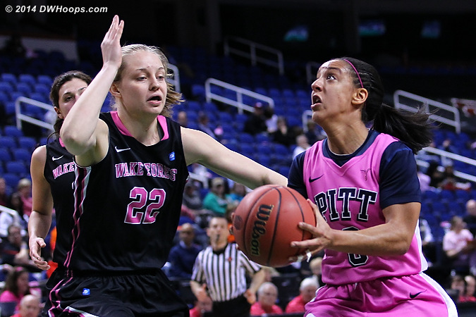 ACCWBBDigest Photo  - WAKE Players: #22 Keri Fulp - PITT Tags: #3 Brianna Kiesel