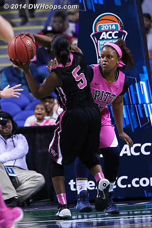 Wake goes up 10  - WAKE Players: #5 Chelsea Douglas - PITT Tags: #25 Brittany Gordon
