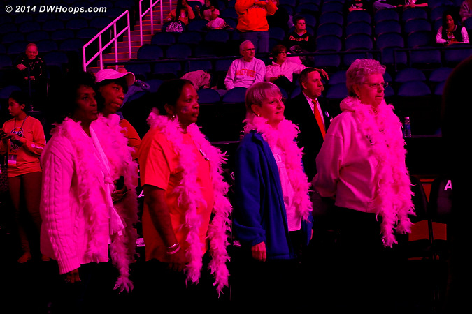 Halftime was a tribute to breast cancer survivors