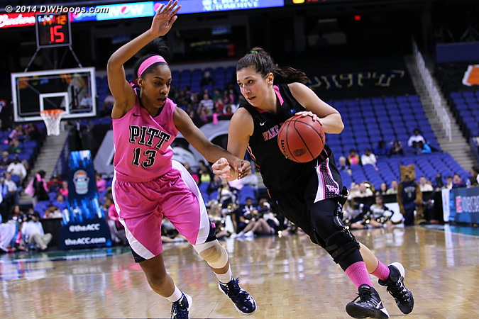 ACCWBBDigest Photo  - WAKE Players: #2 Jill Brunori - PITT Tags: #13 Marquel Davis