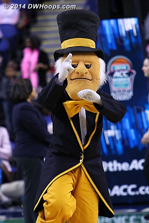 ACCWBBDigest Photo  - WAKE Players: Mascot Demon Deacon