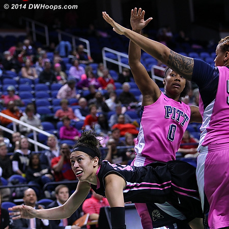 ACCWBBDigest Photo  - WAKE Players: #25 Dearica Hamby - PITT Tags: #0 Asia Logan