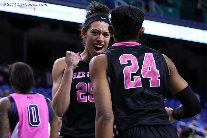 Yeah!  - WAKE Players: #25 Dearica Hamby, #24 Kelila Atkinson