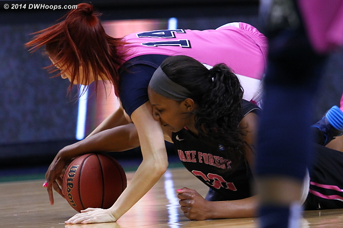 ACCWBBDigest Photo  - WAKE Players: #32 Milan Quinn - PITT Tags: #14 Frederique Potvin