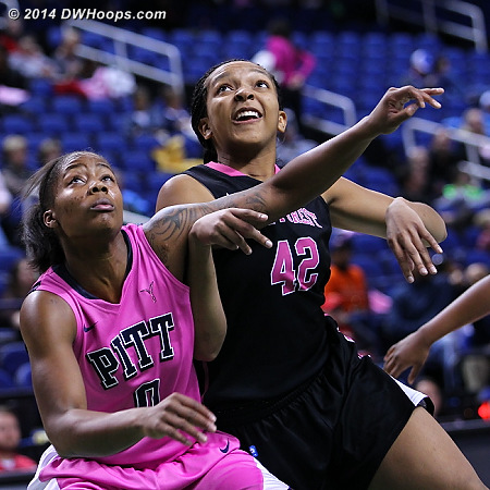 ACCWBBDigest Photo  - WAKE Players: #42 Kandice Ball - PITT Tags: #0 Asia Logan