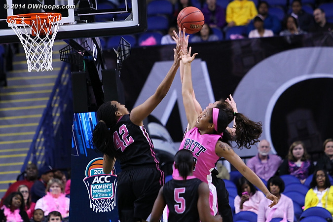 ACCWBBDigest Photo  - WAKE Players: #42 Kandice Ball - PITT Tags: #22 Chelsea Welch