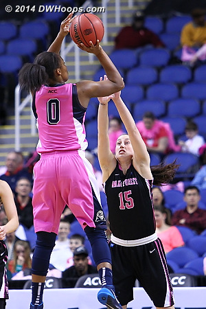 ACCWBBDigest Photo  - WAKE Players: #15 Millesa Calicott - PITT Tags: #0 Asia Logan