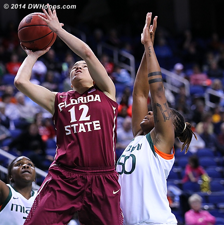 ACCWBBDigest Photo  - MIA Players: #50 Maria Brown - FSU Tags: #12 Brittany Brown
