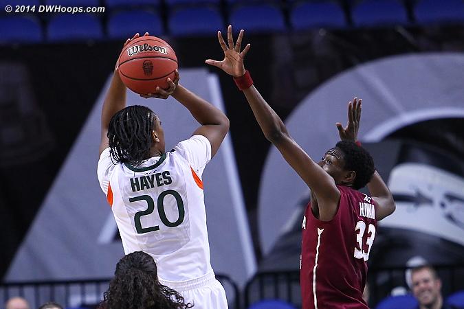 ACCWBBDigest Photo  - MIA Players: #20 Keyona Hayes - FSU Tags: #33 Natasha Howard