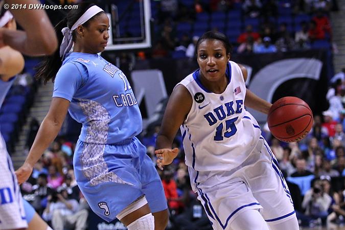 DWHoops Photo  - Duke Tags: #15 Richa Jackson - UNC Players: #11 Brittany Rountree