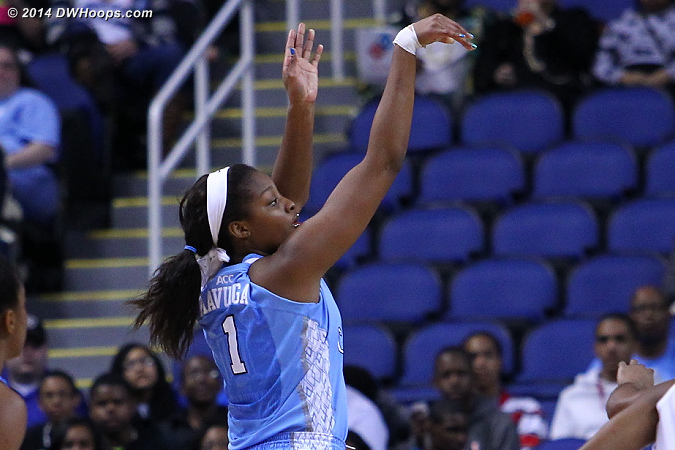 ACCWBBDigest Photo  - UNC Players: #1 Stephanie Mavunga