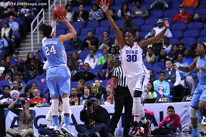 DWHoops Photo  - Duke Tags: #30 Amber Henson - UNC Players: #24 Jessica Washington