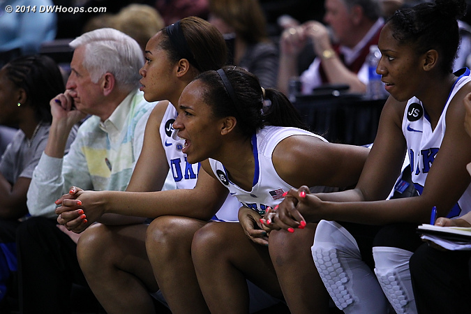DWHoops Photo  - Duke Tags: #30 Amber Henson, #21 Kendall McCravey-Cooper, #22 Oderah Chidom