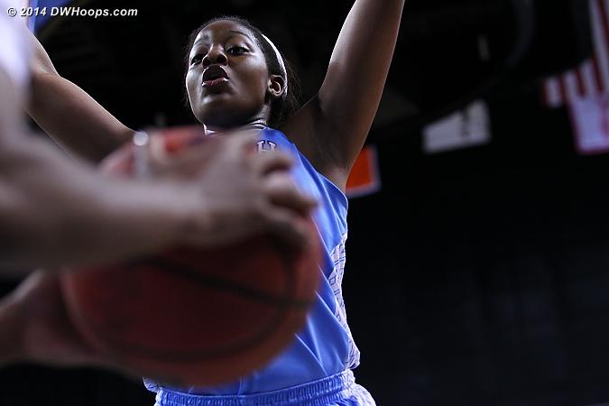Duke inbounds play  - UNC Players: #1 Stephanie Mavunga