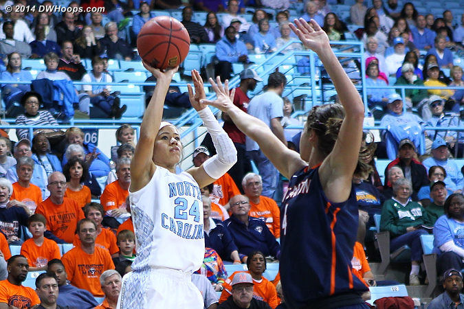 Skyhawks finished the half on a 7-0 run  - UNC Players: #24 Jessica Washington