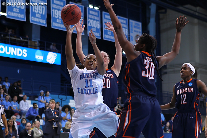 ACCWBBDigest Photo  - UNC Players: #11 Brittany Rountree