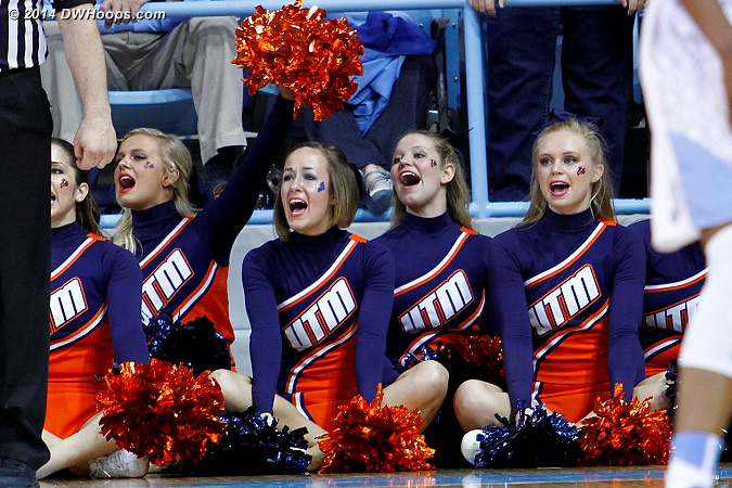 ACCWBBDigest Photo  - UT-M Players:  UT-Martin Cheerleaders